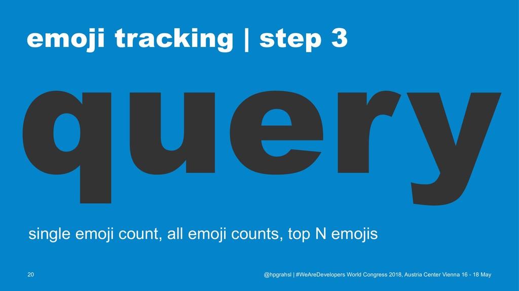 emoji tracking   step 3 query single emoji coun...