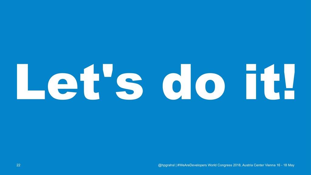 Let's do it! @hpgrahsl   #WeAreDevelopers World...