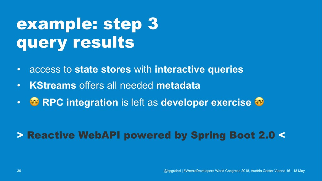 example: step 3 query results • access to state...