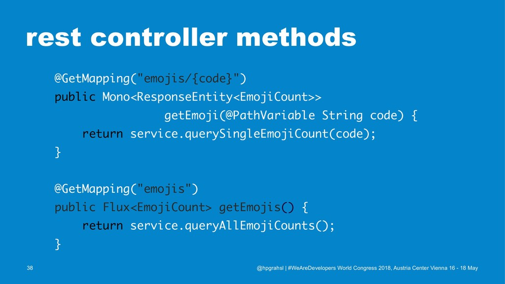 """rest controller methods @GetMapping(""""emojis/{co..."""