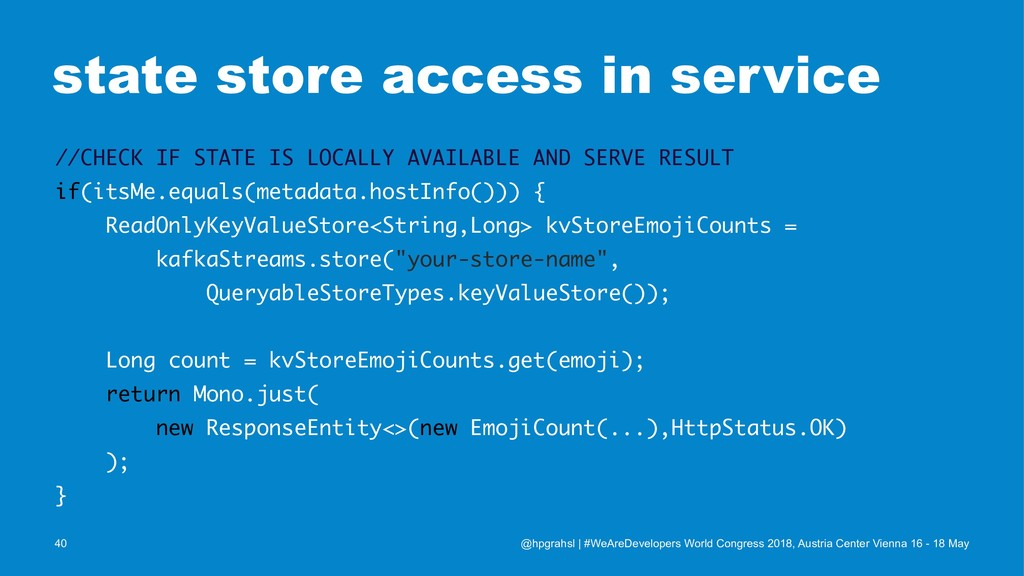 state store access in service //CHECK IF STATE ...