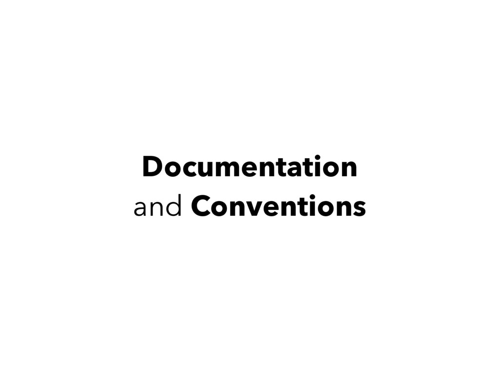 Documentation and Conventions