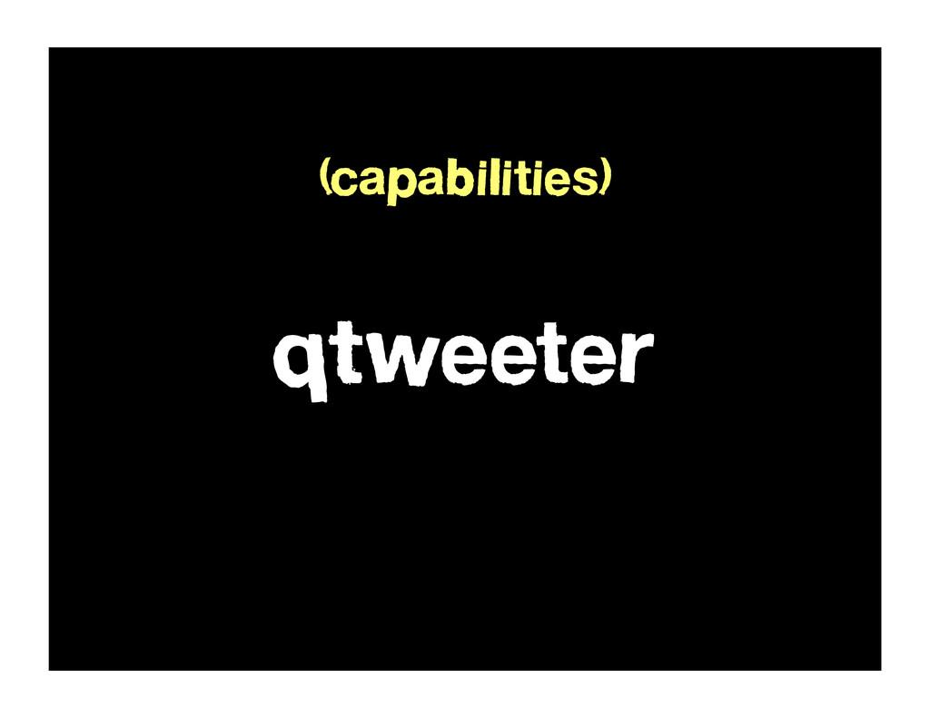 qTweeter (capabilities)