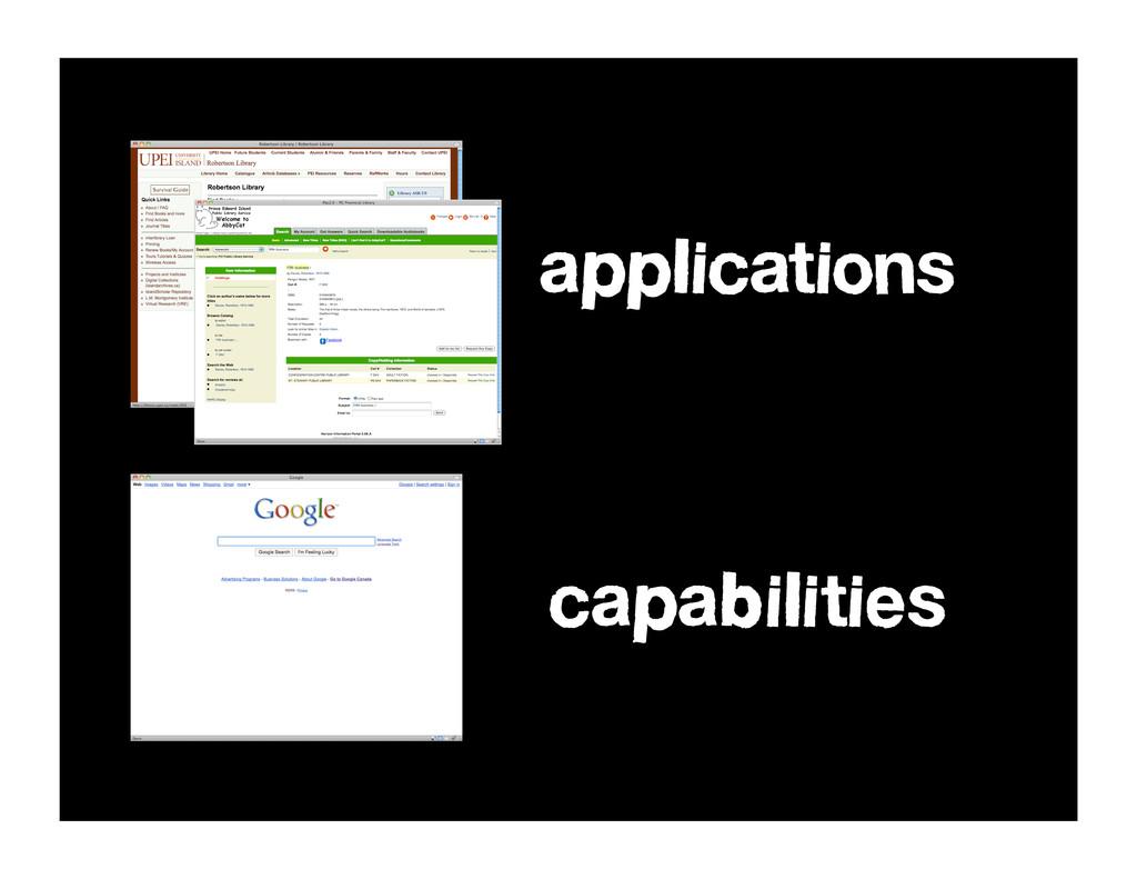 applications capabilities