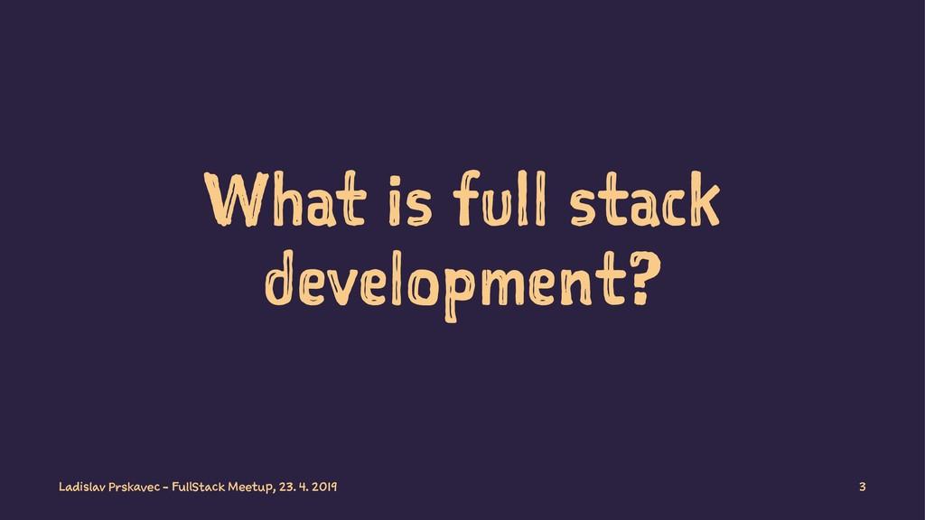 What is full stack development? Ladislav Prskav...