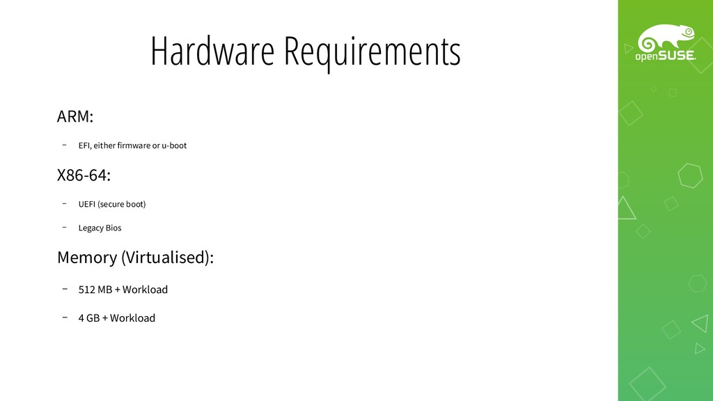 Hardware Requirements ARM: – EFI, either firmwa...