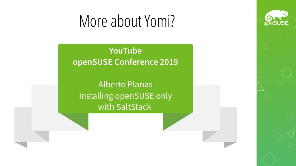 More about Yomi? YouTube openSUSE Conference 20...