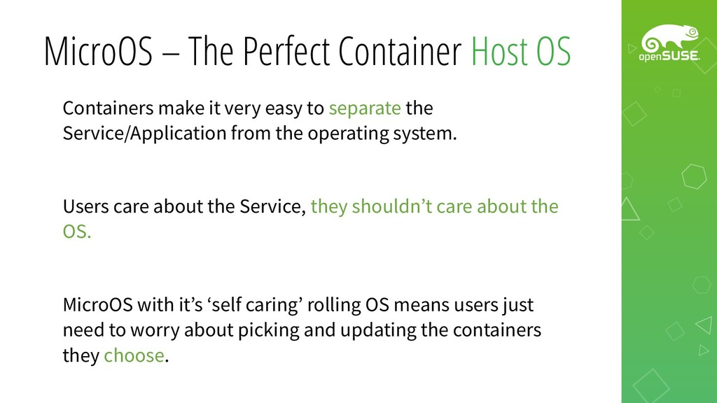 MicroOS – The Perfect Container Host OS Contain...