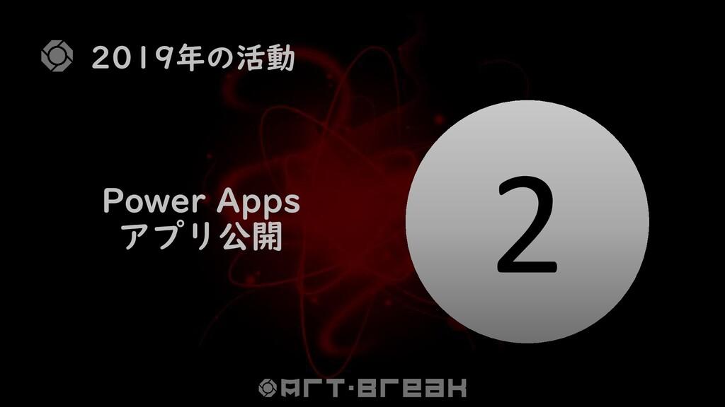 2019年の活動 2 Power Apps アプリ公開