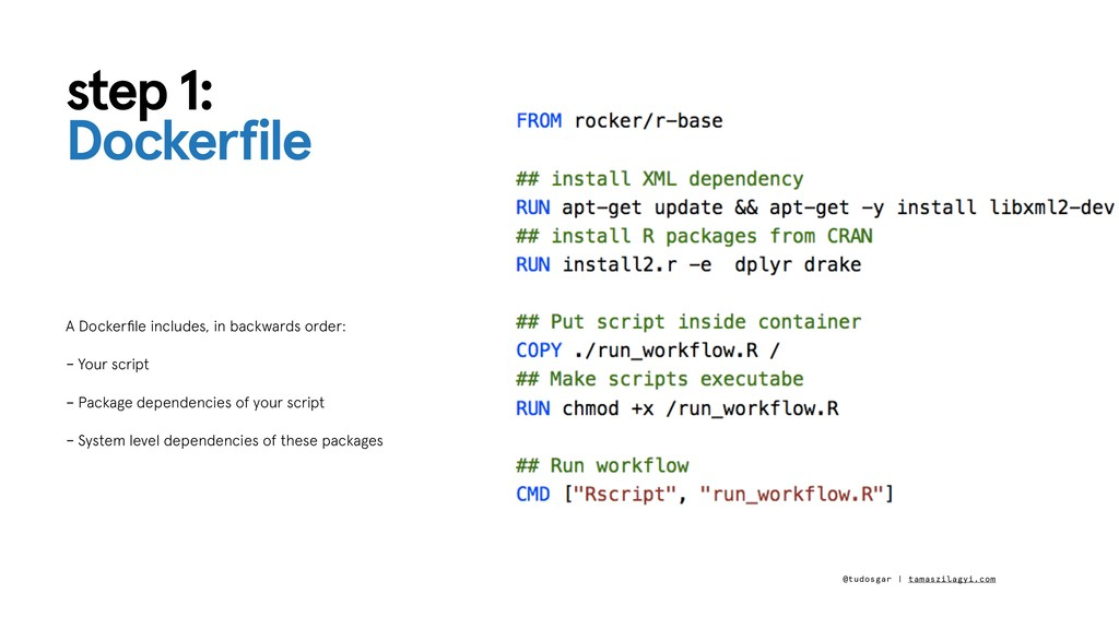 step 1: Dockerfile A Dockerfile includes, in bac...