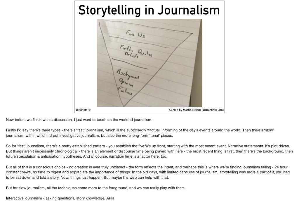 Storytelling in Journalism @r4isstatic Sketch b...