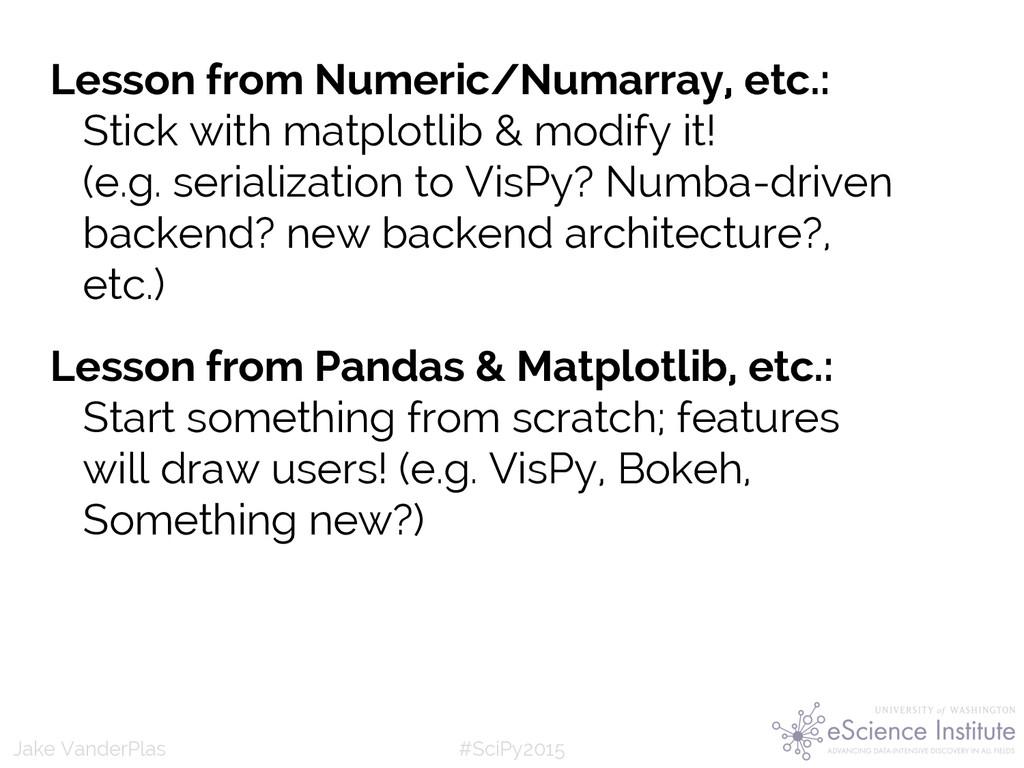 #SciPy2015 Jake VanderPlas Lesson from Numeric/...