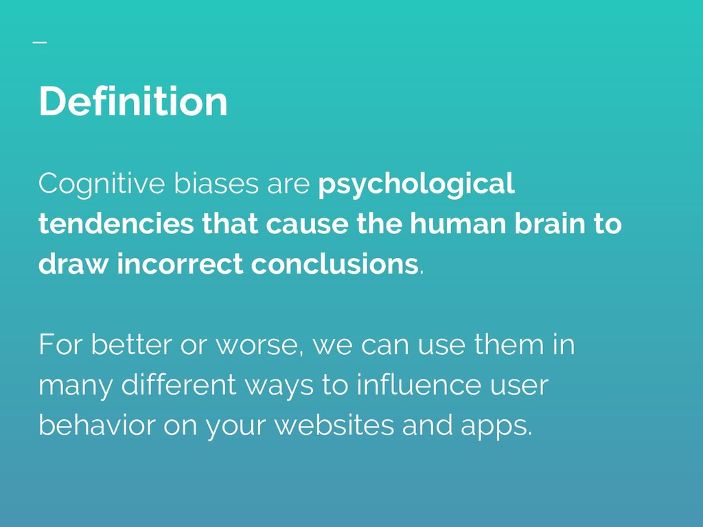Cognitive biases are psychological tendencies t...