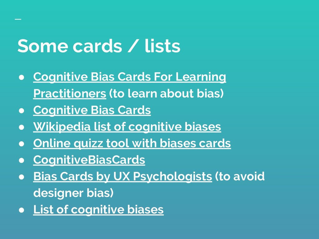 ● Cognitive Bias Cards For Learning Practitione...