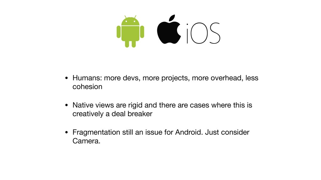 • Humans: more devs, more projects, more overhe...