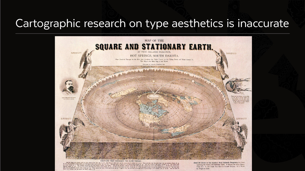 Six Cartographic research on type aesthetics is...