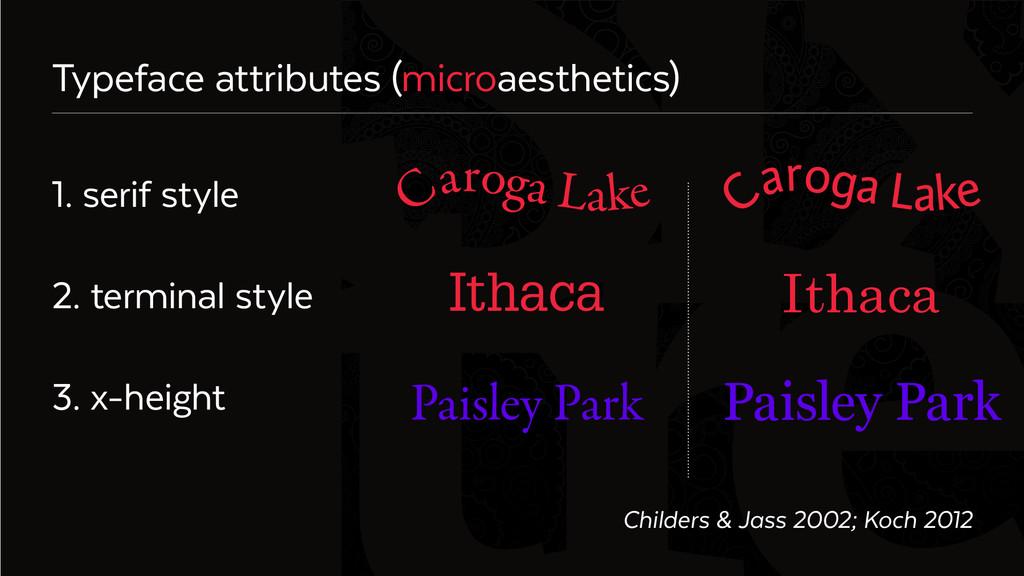 Six Typeface attributes (microaesthetics) 1. se...