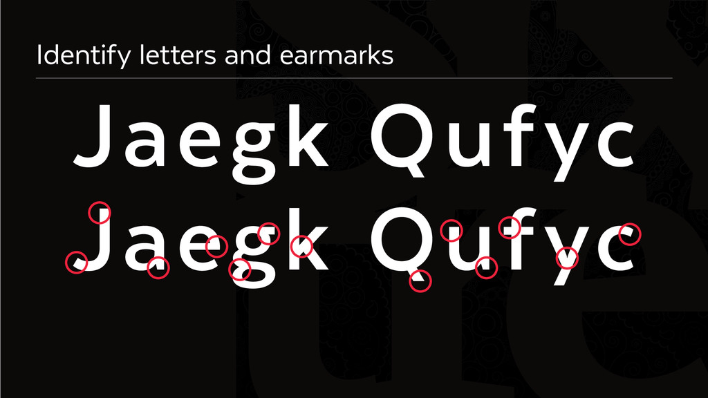 Six Identify letters and earmarks Jaegk Qufyc J...