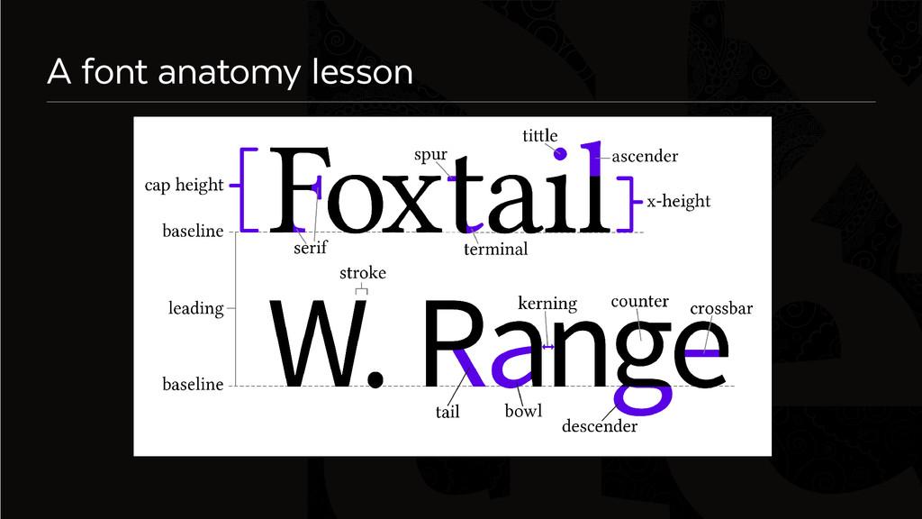 Six A font anatomy lesson