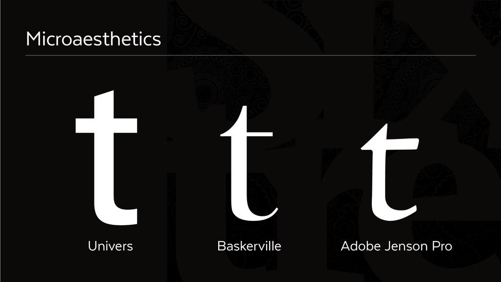 Six Microaesthetics Univers Baskerville Adobe J...