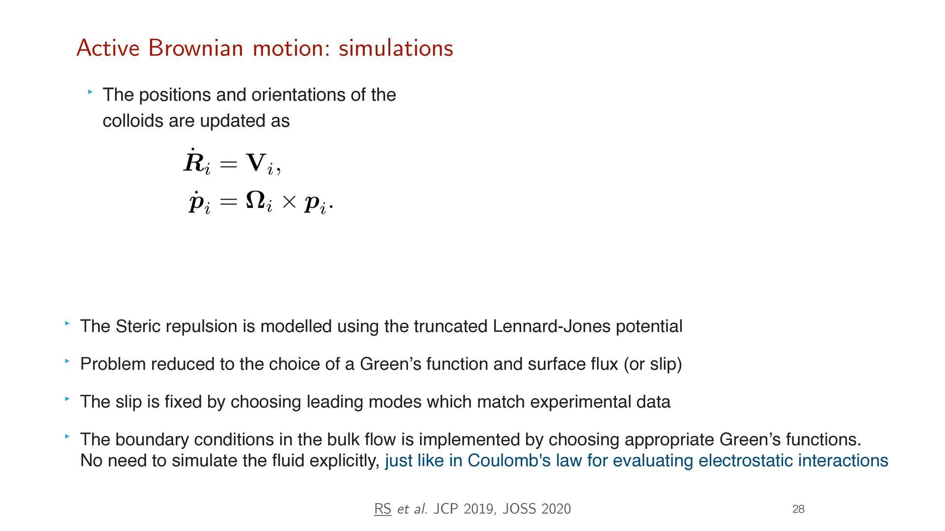 26 Active Brownian motion: theory FH i + FP i +...