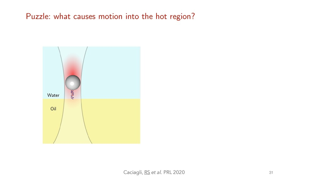 31 Water Oil Puzzle: what causes motion into th...
