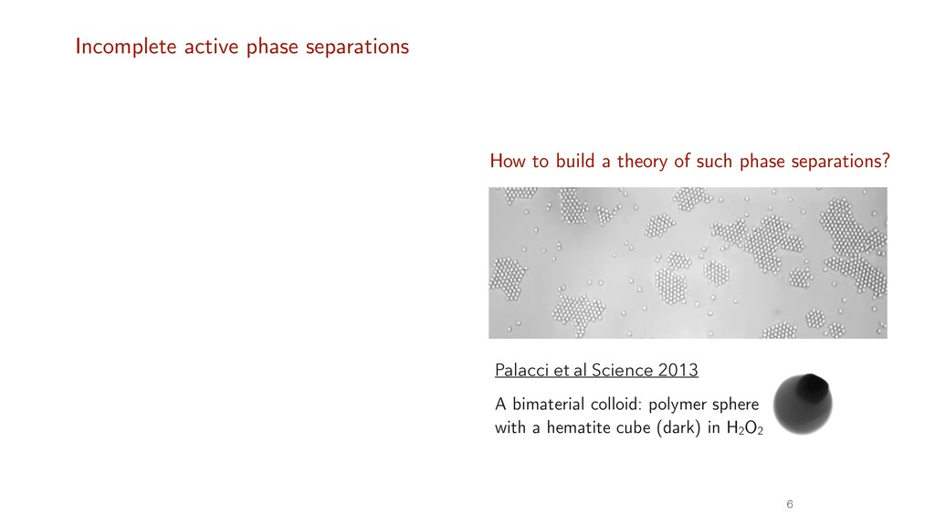 Incomplete active phase separations 6 Buttinoni...