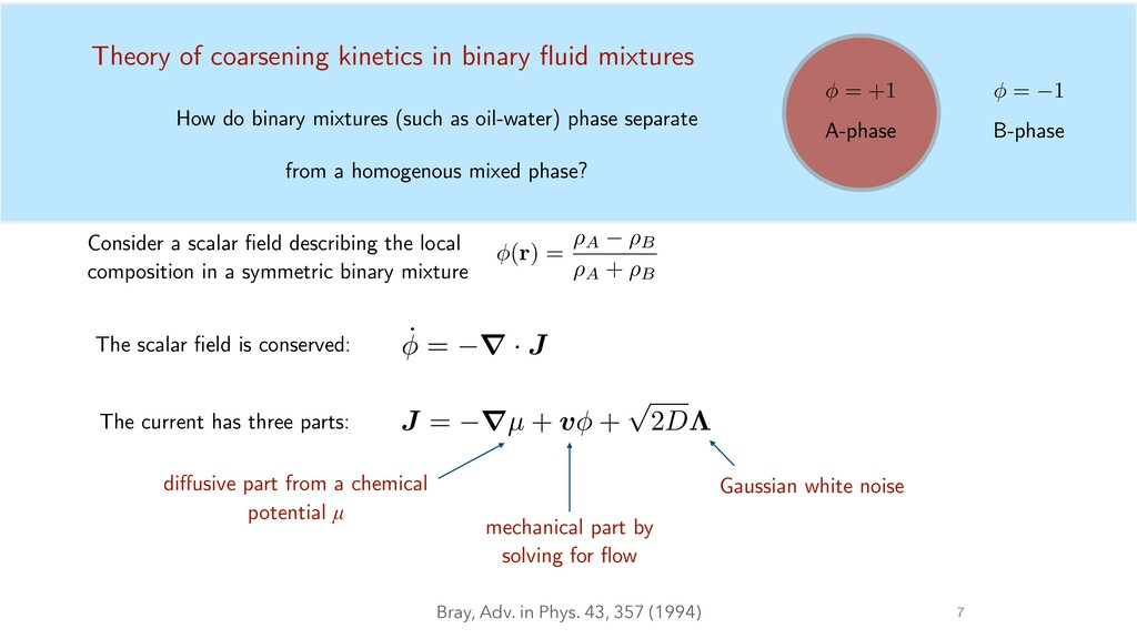 7 How do binary mixtures (such as oil-water) ph...
