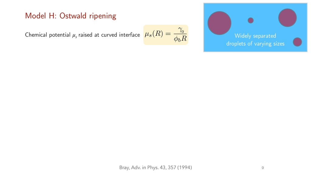 9 Model H: Ostwald ripening Chemical potential ...