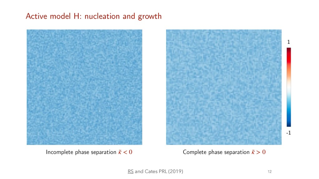 Incomplete phase separation ˜ κ < 0 Complete ph...