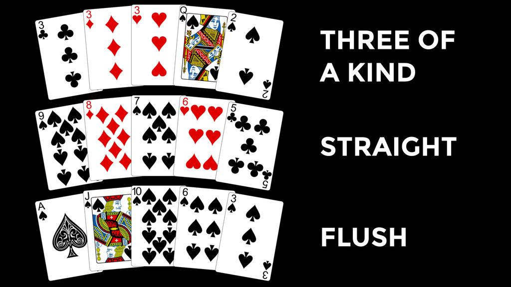 THREE OF A KIND STRAIGHT FLUSH
