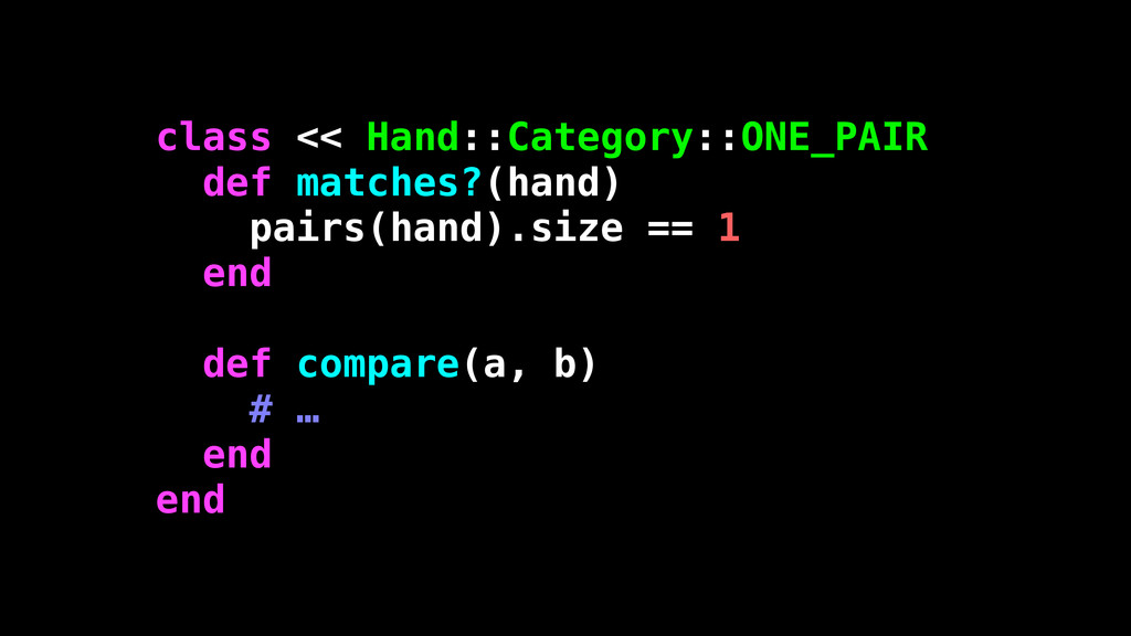 class << Hand::Category::ONE_PAIR def matches?(...