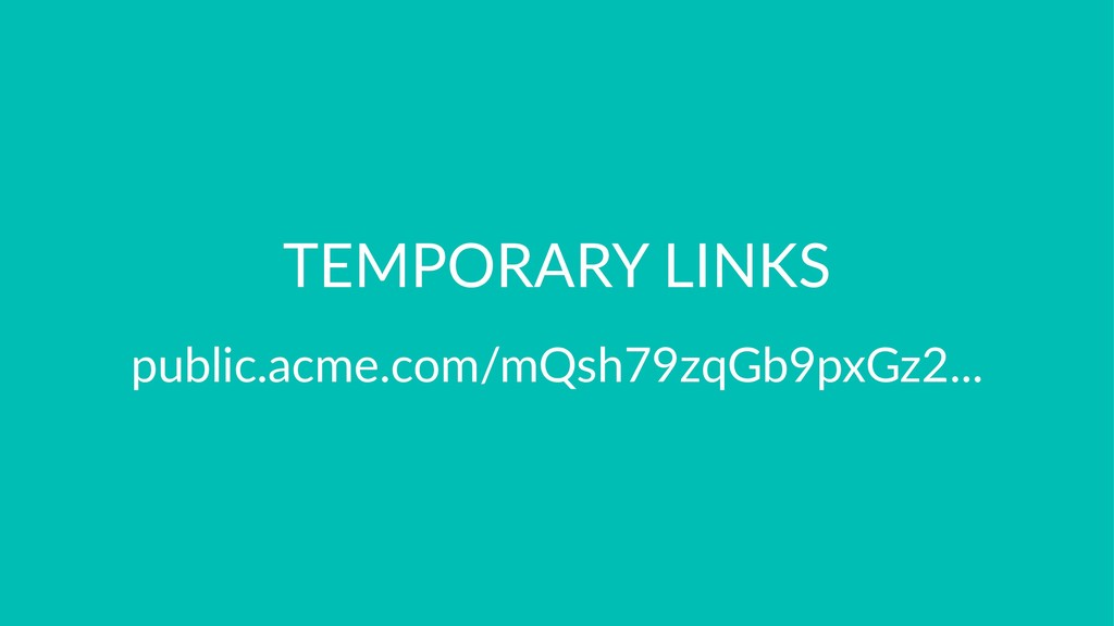 TEMPORARY LINKS public.acme.com/mQsh79zqGb9pxGz...