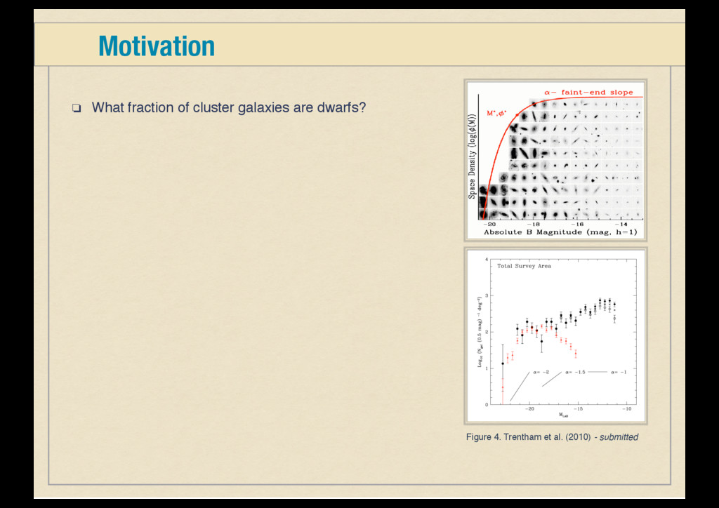 ❏ What fraction of cluster galaxies are dwarfs?...