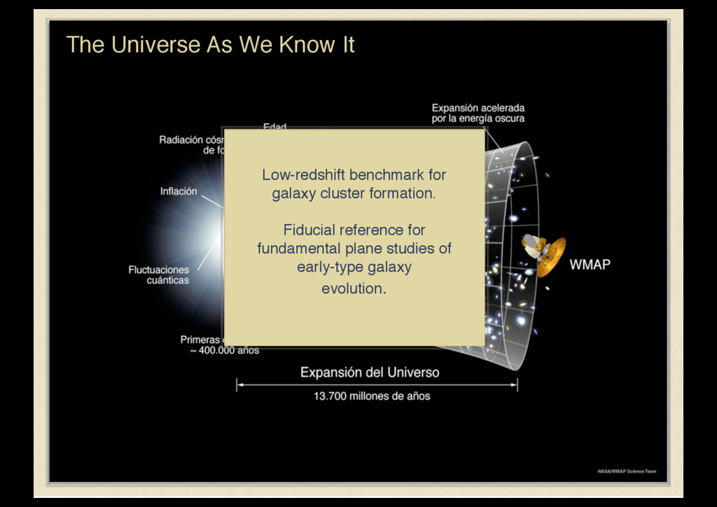 The Universe As We Know It Low-redshift benchma...