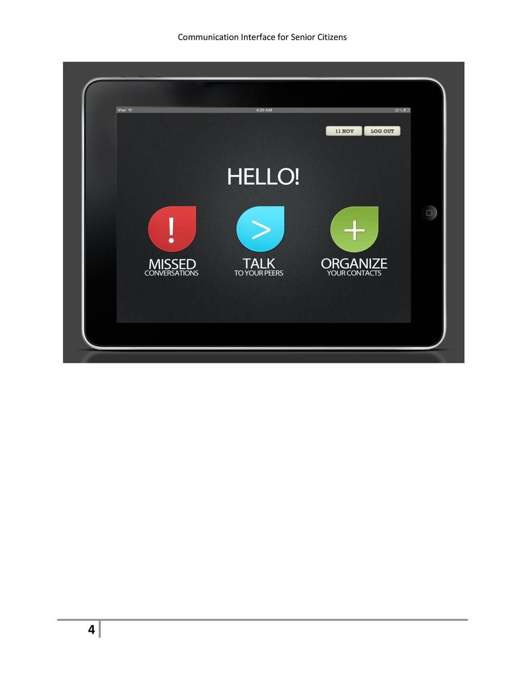 Communication Interface for Senior Citizens 4
