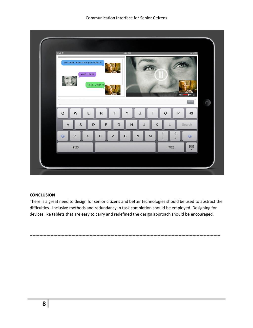 Communication Interface for Senior Citizens 8 C...