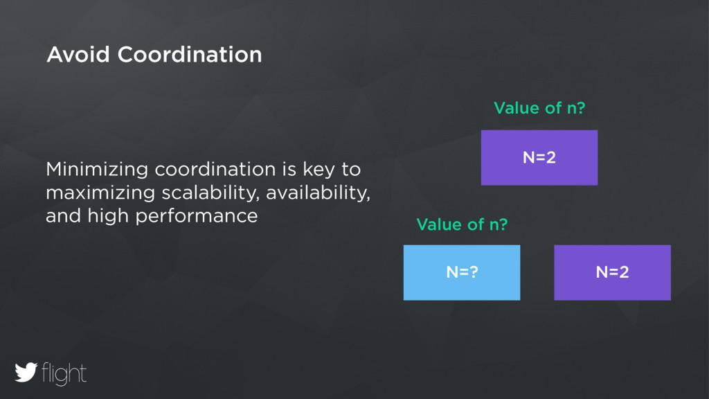 Avoid Coordination Minimizing coordination is k...
