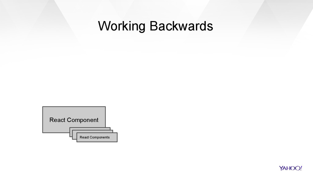 Working Backwards React Component React Compone...