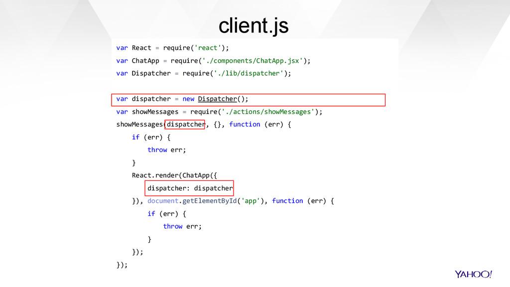 var React = require('react'); var ChatApp = req...