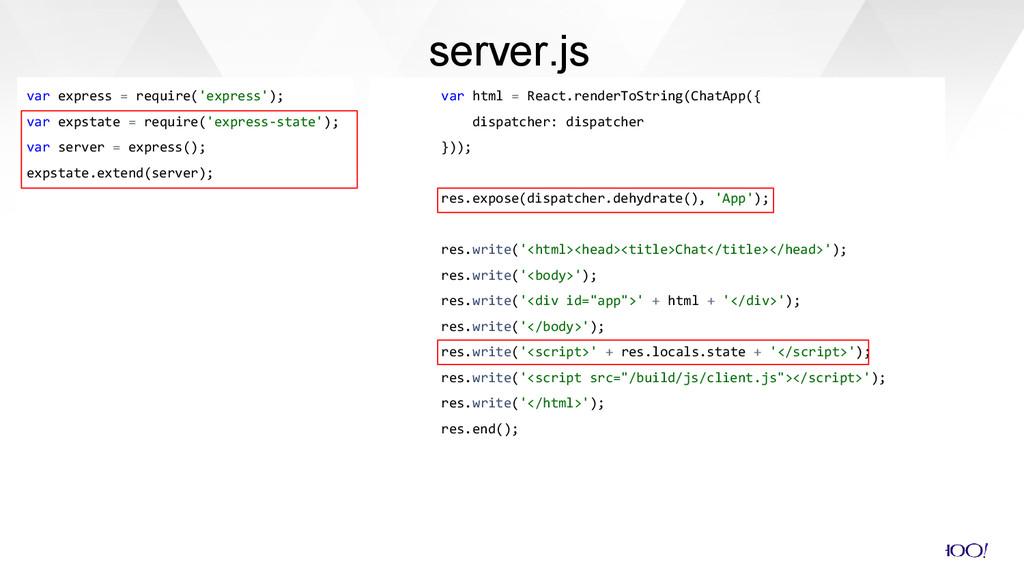 var html = React.renderToString(ChatApp({ dispa...