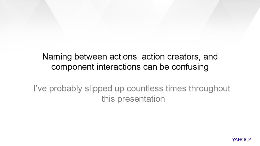 Naming between actions, action creators, and co...