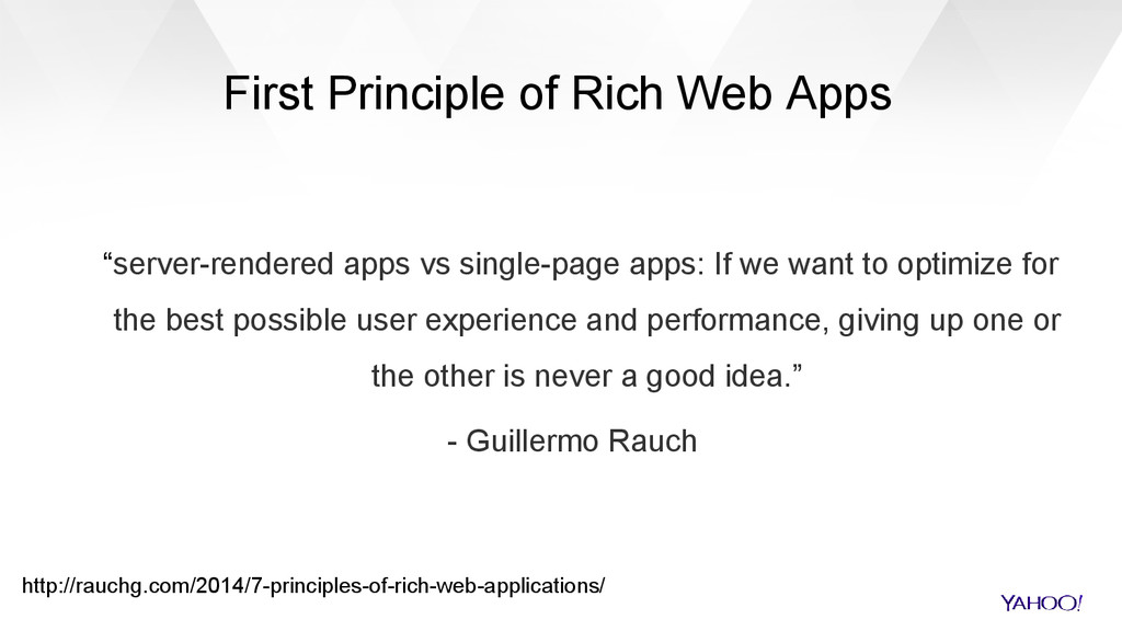 """First Principle of Rich Web Apps """"server-render..."""
