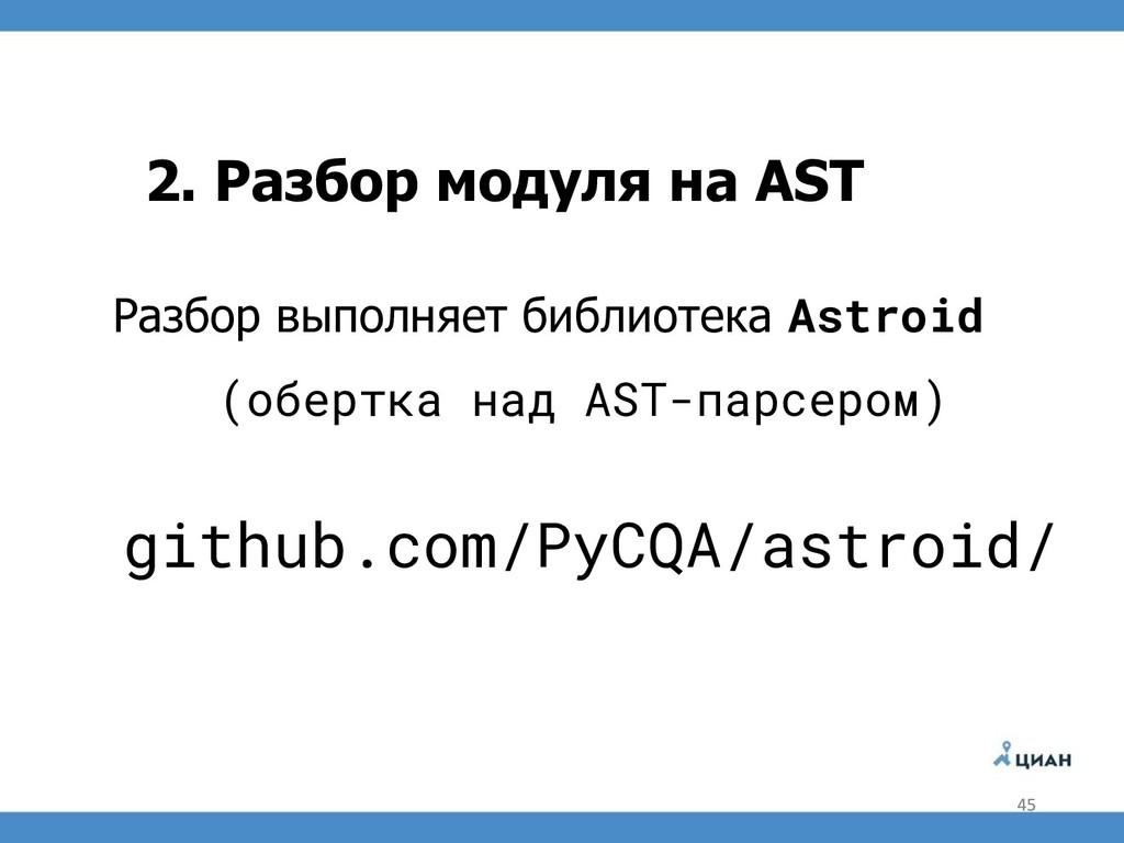 2. Разбор модуля на AST Разбор выполняет библио...