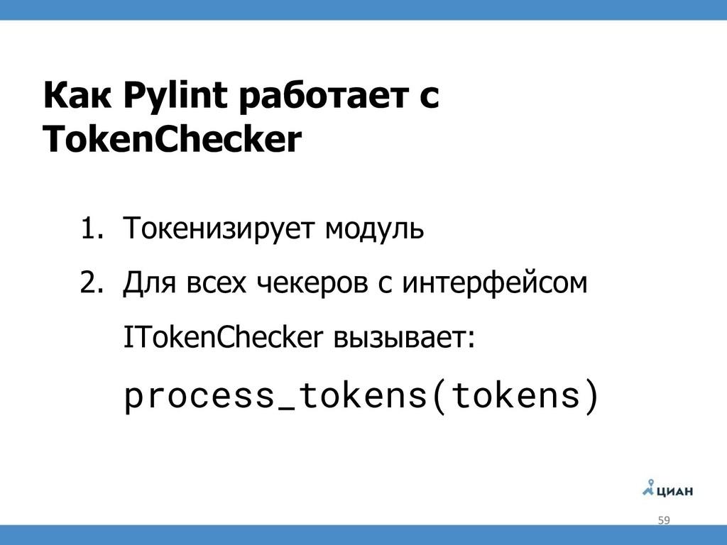 Как Pylint работает с TokenChecker 1. Токенизир...