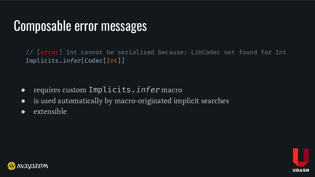 Composable error messages // [error] Int cannot...