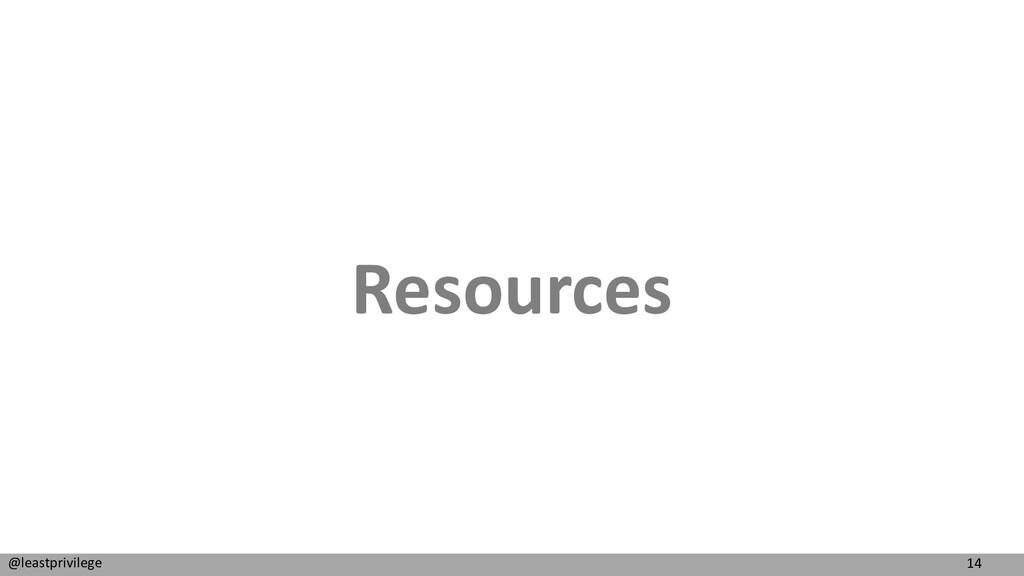 14 @leastprivilege Resources