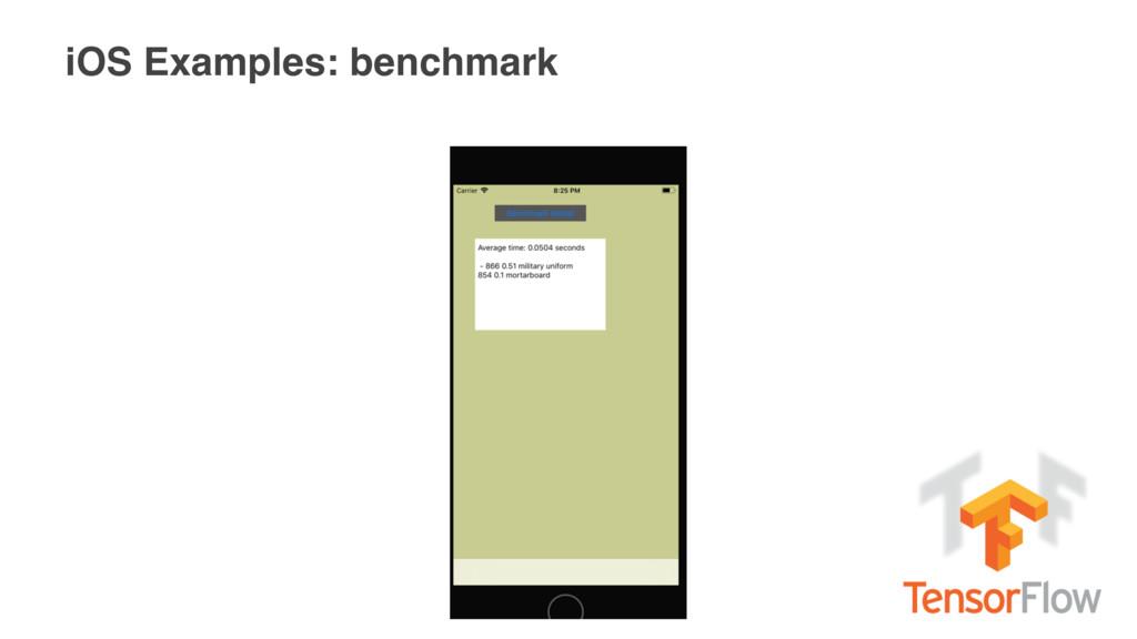 iOS Examples: benchmark