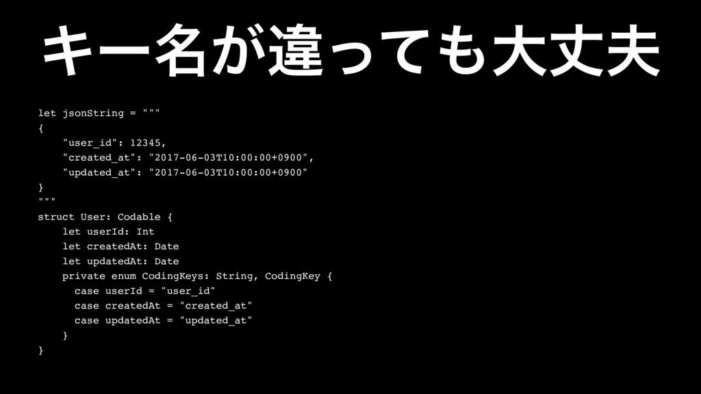 """Ωʔ໊͕ҧͬͯେৎ let jsonString = """""""""""" { """"user_id"""": 1..."""