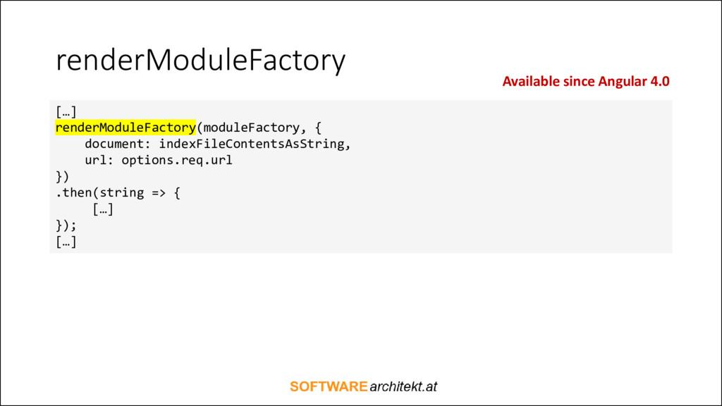 renderModuleFactory […] renderModuleFactory(mod...